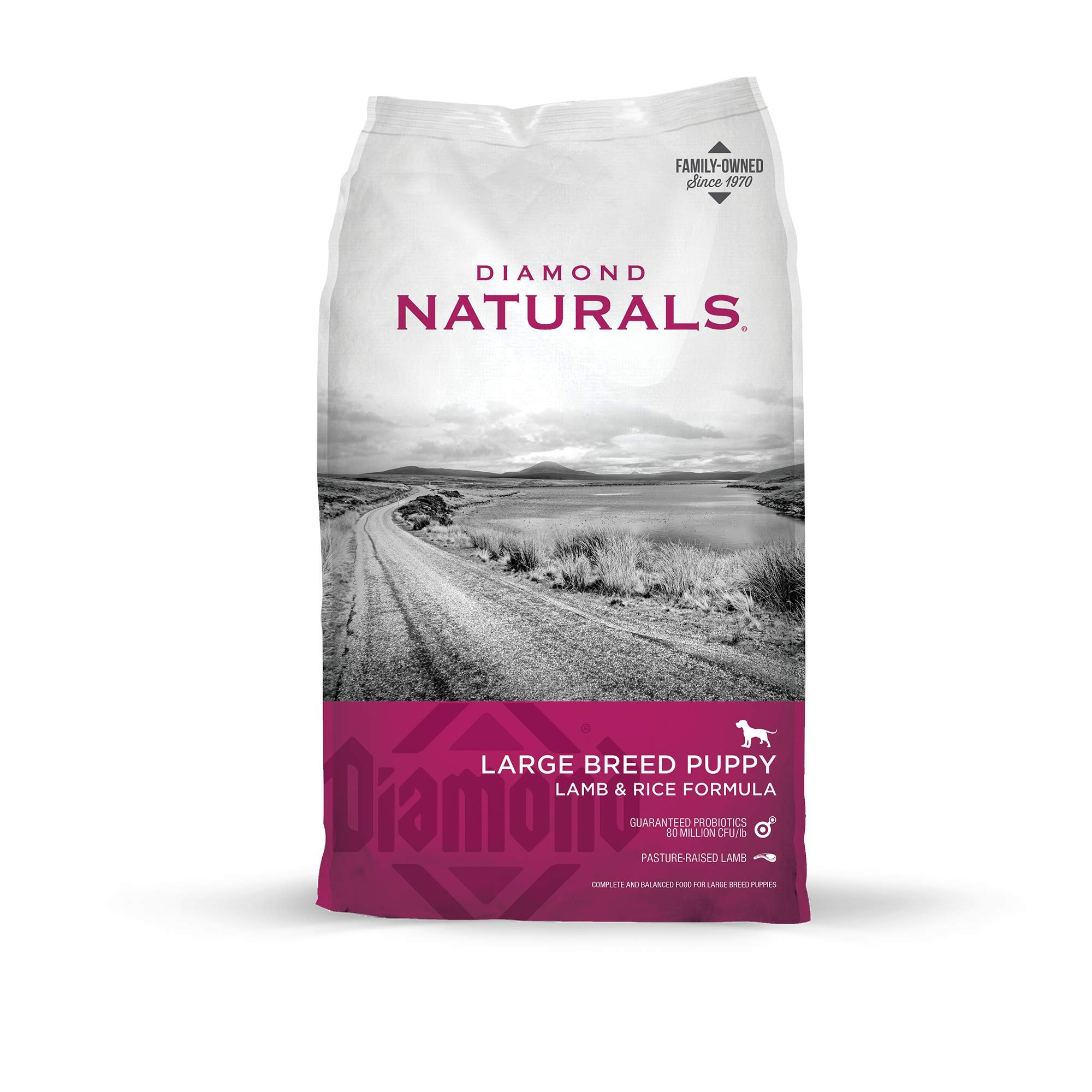 Diamond Naturals Premium Large Breed Formulas Dry Dog Food for Adult Dogs and/or Puppies Made with Real Meat Protein…