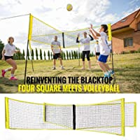 Four-Sided Cross Volleyball Net PE Material Polyester Webbing Strong Volleyball Net Beach Volleyball Standard Net No Support Bar Without bracket-30100cm