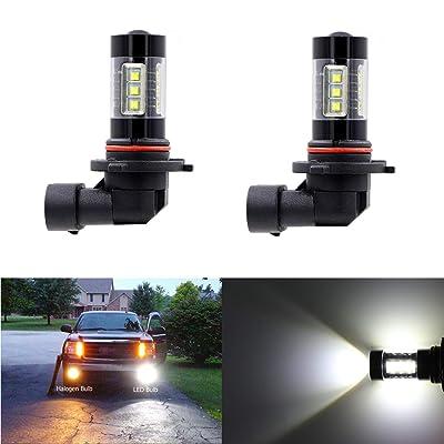Fog Light 9006 9006LL HB4 LED Bulbs Max 80W High Power Extremely Bright 6000K Xenon White Replace for Car Fog Spot Light or Beam Light: Automotive [5Bkhe1011028]