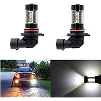 Dantoo 9045 9040 9140 H10 9145 - Bombillas LED de repuesto para faros antiniebla (6000 K, 16 SMD, luz antiniebla, 2 unidades), color blanco, 9006 HB4