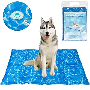 SCENEREAL Dog Cooling Mat Cool Dog Bed - Ice Water Pad for Dogs Cats Pets Summer Hot Days Sleeping