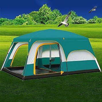 MIAO al aire libre dos habitaciones sala 8 – 10 personas gran lujo camping tienda de campaña: Amazon.es: Deportes y aire libre