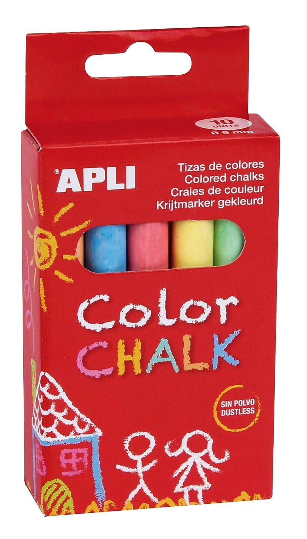 APLI - Caja tiza jumbo redonda, colores surtidos, 20 uds