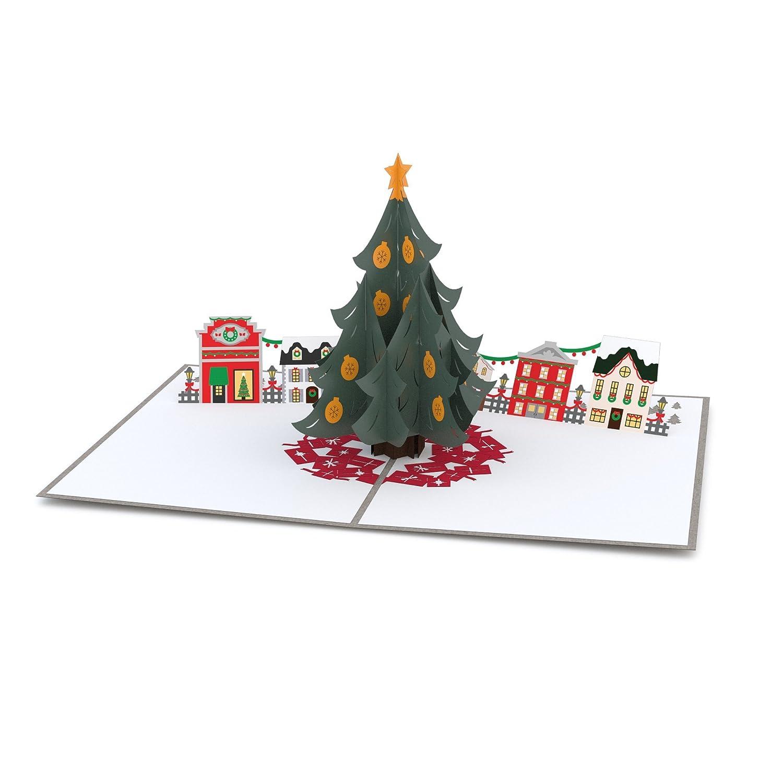 Amazon.com : Lovepop Christmas Tree Village Pop Up Christmas Card ...