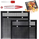 Non-Stick BBQ Grill Mesh Bag Reusable Baking Grilling Bag PTFE Bag Heat-Resistant Easy to Clean Grilling Baking Mesh for Outd