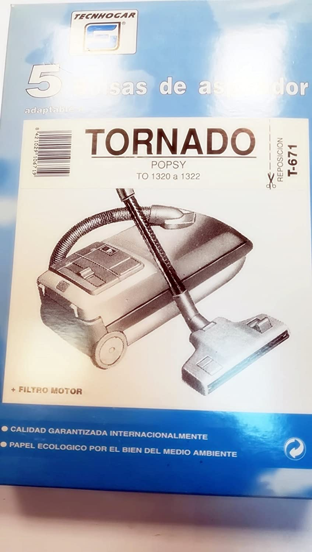 Taurus Bolsas Aspirador COMPATIBLES Tornado POPSY: Amazon.es ...