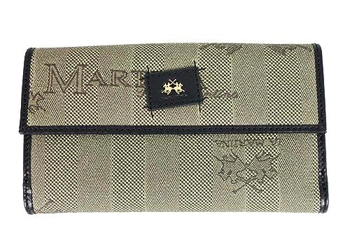 La Martina - cartera de 3 pliegues de Lona Mujer: Amazon.es: Zapatos y complementos