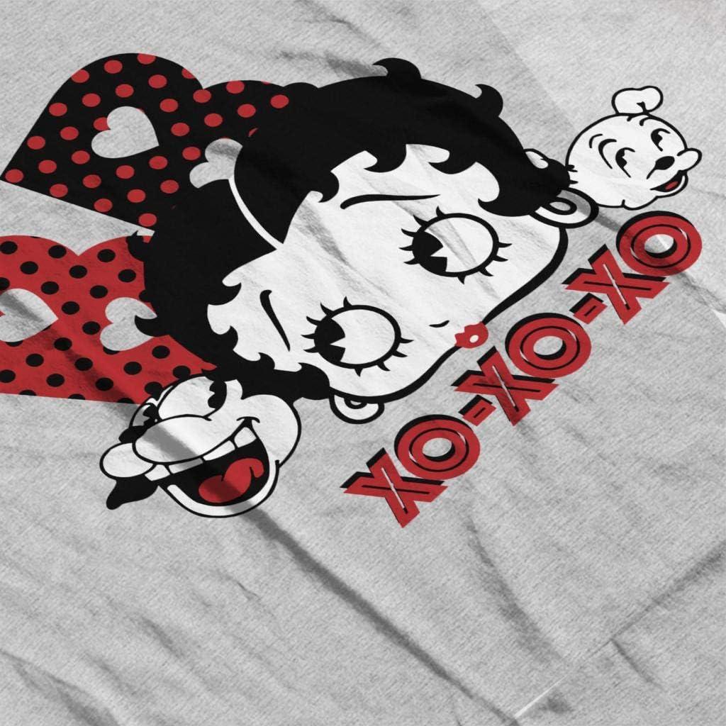 Comics Kingdom Betty Boop Bimbo and Pudgy XOXOXO Mens Sweatshirt