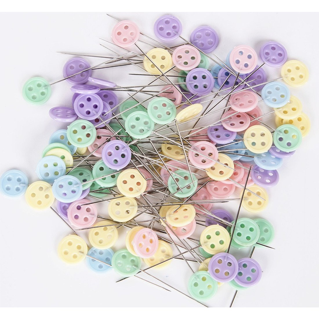Quilting Pins with Cases 500 Pcs Flat Button /&Flower Head Pins,Straight Pins