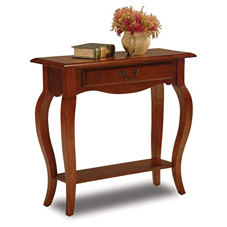 Amazoncom Leick French Hall Console Table Brown Cherry Kitchen