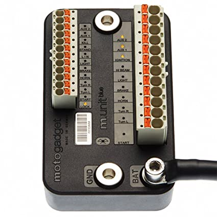 amazon com motogadget m unit blue digital control and fuse box