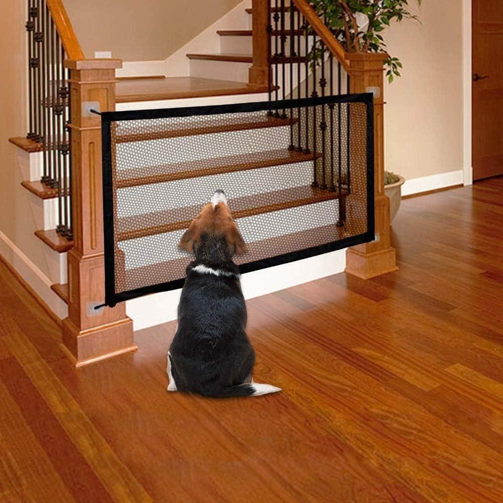 GOOCO Magic Gate Dog - Barrera De Seguridad para Perro,Barrera Seguridad Niños Escalera, Retráctil Puerta Enrollable Bebe, Puerta Seguridad Bebe Y Mascota, Barrera Escalera Bebe: Amazon.es: Productos para mascotas