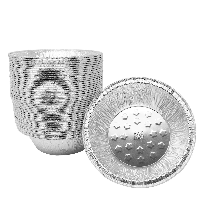 Fig & Leaf (120 Pack) Premium 5-Inch Pie Pans l 32 Gauge l Disposable Tart Pan Tins Plates Aluminum Foil for Baking Quiche by Fig & Leaf