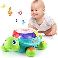 Musical Turtle Toy, English Spanish Learning, Electronic Toys W/ Lights and Sounds, Early Educational Development…