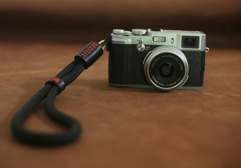 Purple Green Black Red Camera Strap In Dark Tribal print