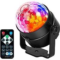 JYX Sound Activated Dicso Light met afstandsbediening, USB DJ Light, Disco Ball, Strobe Lamp 7 Modes Stage Par Light…