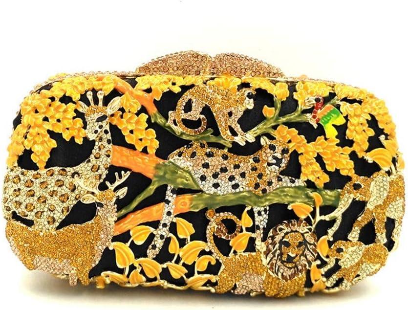 Color : Yellow Suede Evening Bag Rhinestone Dinner Bag Evening Wear Handmade Hard Shell Female Handbag