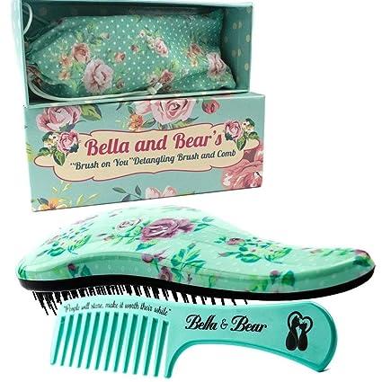 Conjunto de Cepillos de Bella and Bear, el Mejor Cepillo de Desenredar para pelo Mojado