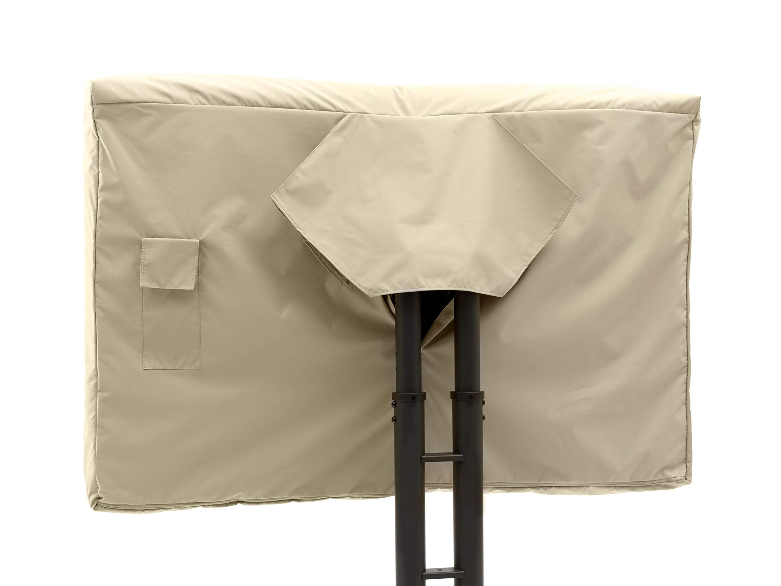 Covermates - Outdoor TV Cover - Fits 70 to 73 Inch TV's - Elite - 300 Denier Stock-Dyed Polyester - Full Coverage - Front Interior Fleece Lining - 3 YR Warranty - Water Resistant - Khaki