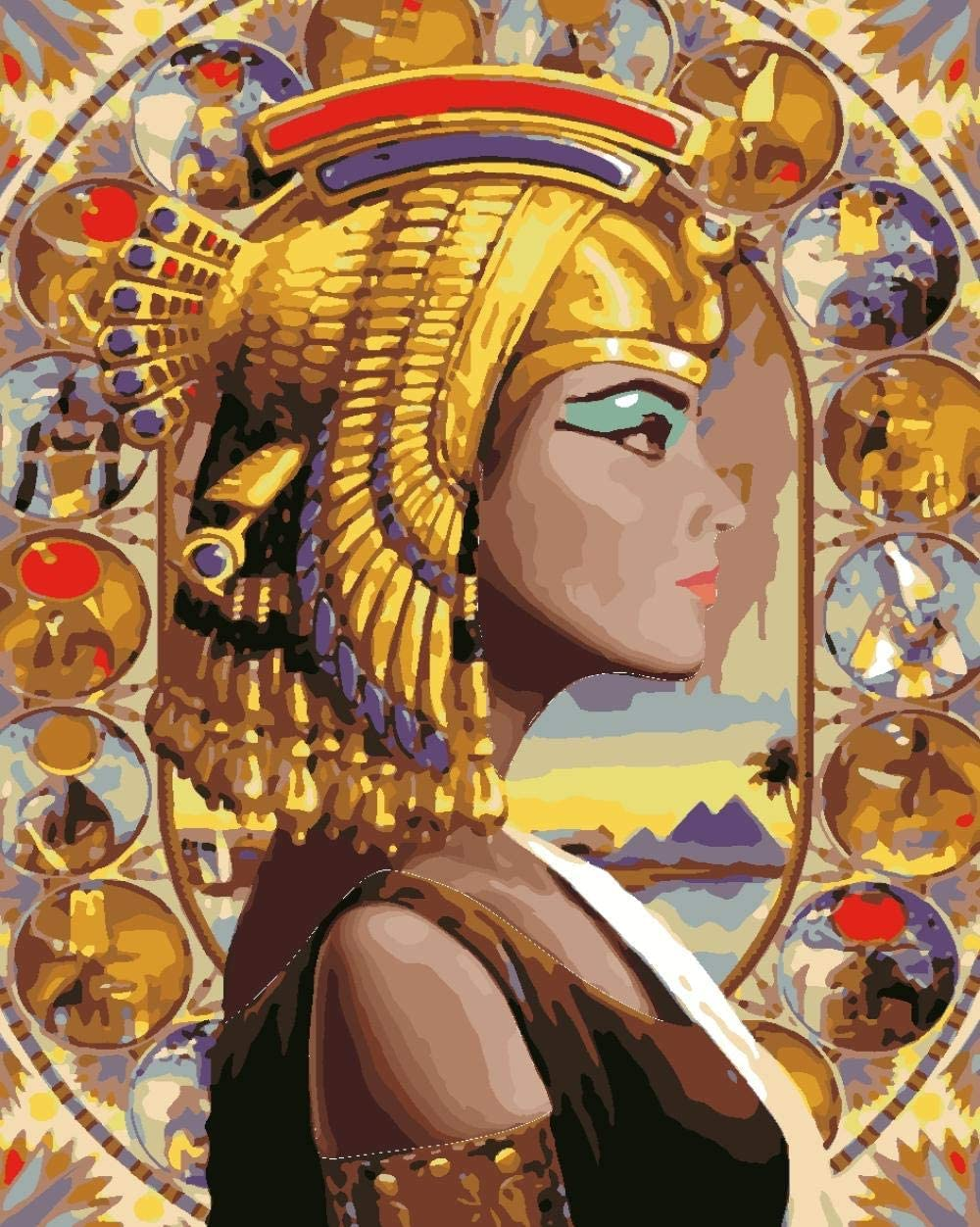 YUXAOYFAK Paint By Numbers For Adults Egyptian Woman Acrylic Handpainted Oil Painting For Home Wall Art Picture 40X50Cm