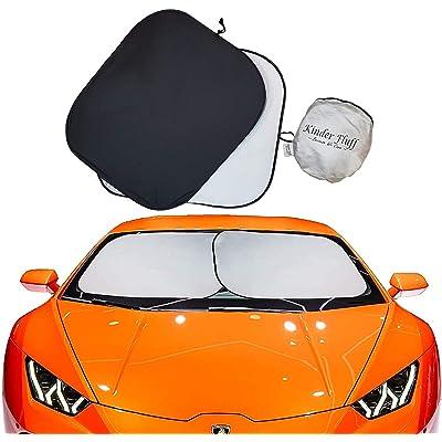 kinder Fluff Car Windshield sunshade-210T for Ultimate uv/Sun Protection for car- Windshield Sun Shade (Large): Automotive