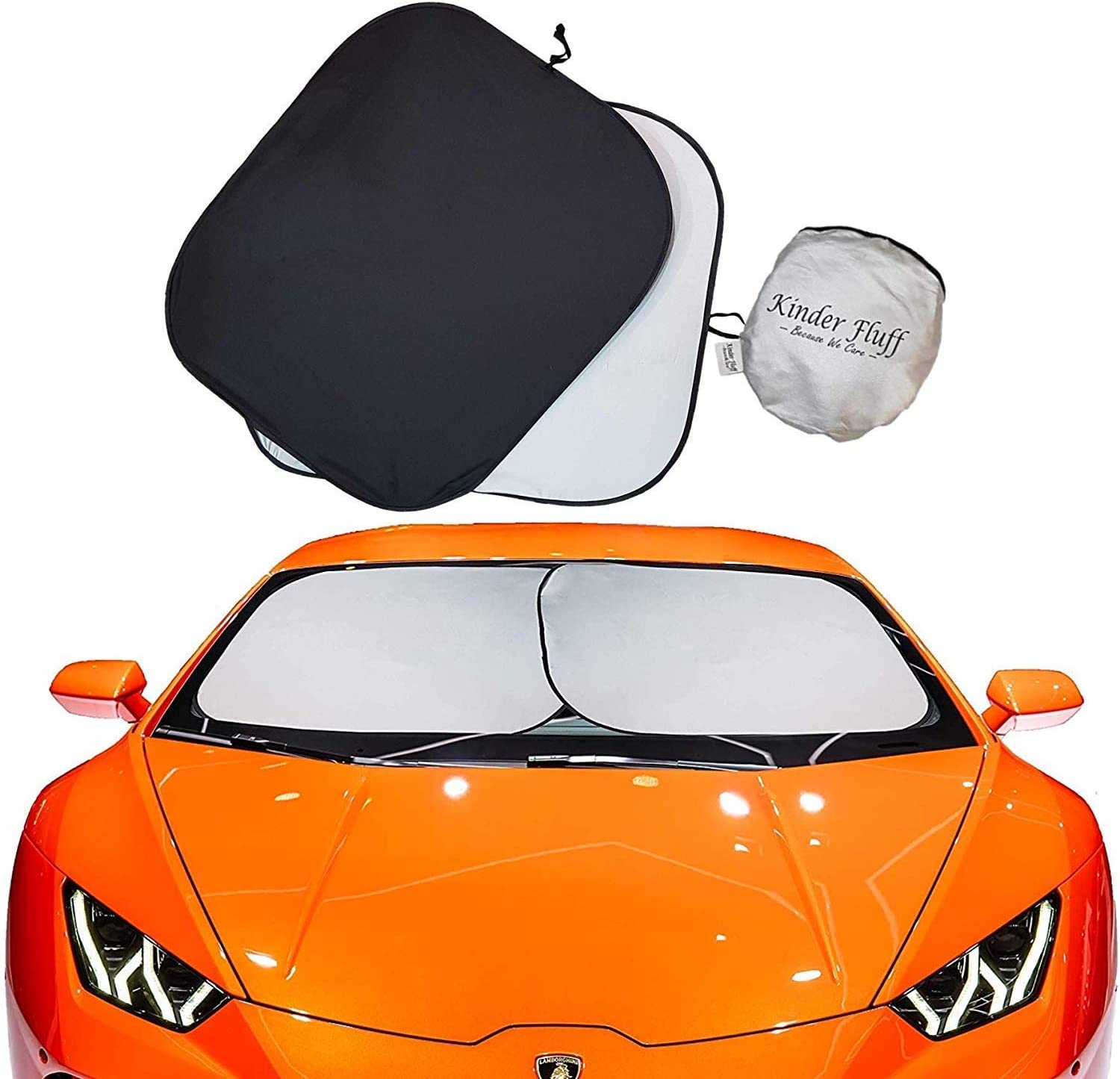 Intro-Tech JP-20 Silver 0 Custom Fit Windshield Sunshade for Select Jeep Renegade Models