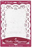 White Placemat Paper Doilies, 8ct