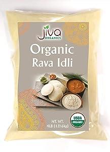 Jiva Organic Idli Rava 4 LB - Great for Making Idli!