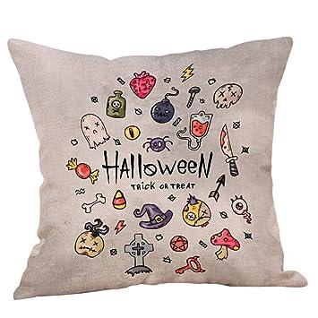 Amazon.com: MoonHome Halloween Skull and PumpkinThrow Pillow ...