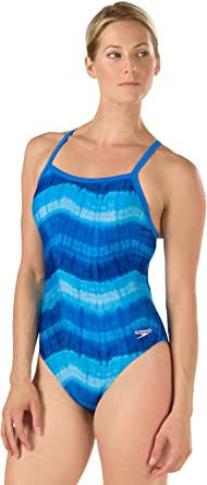 Speedo Womens Swimsuit One Piece Endurance Lite Tie Back Solid - Manufacturer Discontinued