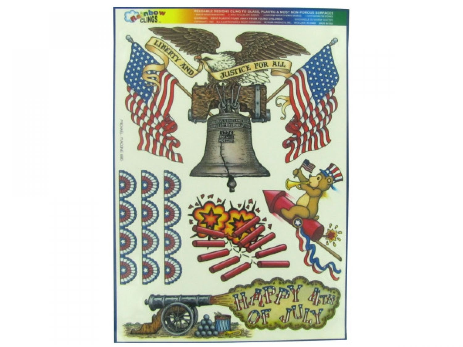 Liberty And Justice Window Clings - Set of 120, [Seasonal, Patriotic & 4th of July] by bulk buys (Image #1)