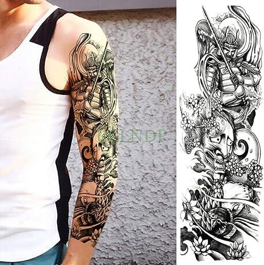 7Pcs-Etiqueta engomada del Tatuaje a Prueba de Agua 骷髅 Rose ...