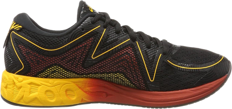 ASICS Herren Noosa Ff T722n-9004 Sneaker, schwarz Schwarz (Black / Gold Fusion / Red Clay)