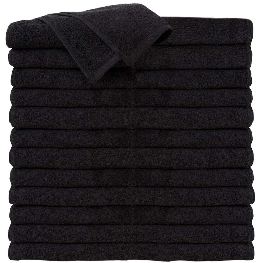 Amazon.com : ForPro Premium 100% Cotton All-Purpose Towels, Black, Extra Soft Multi-Purpose Salon, Spa, Hotel, and Gym Towel, 16