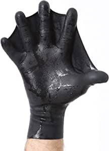 Darkfin Webbed Natural Latex Paddle Gloves for Men, Women and Children - Great for Scuba Diving, Free Diving, Surfing, Snorkeling, Spear Fishing and Power Swimming - Made in The USA (1 Pair)