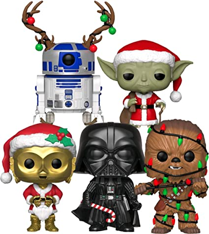 Funko Pop 2020 Star Wars Christmas Amazon.com: Funko Pop! Star Wars: Holiday Series Collectible Vinyl