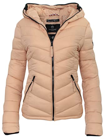 524d98a68abe Marikoo Kuala Steppjacke Damen mit Kapuze - Übergangsjacke Frühjahr Fashion  Windbreaker Jacke Frauen  Amazon.de  Bekleidung