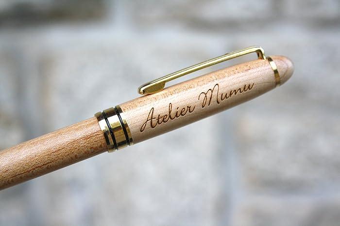 Penna personalizzata in legno penna inciso con vostro testo