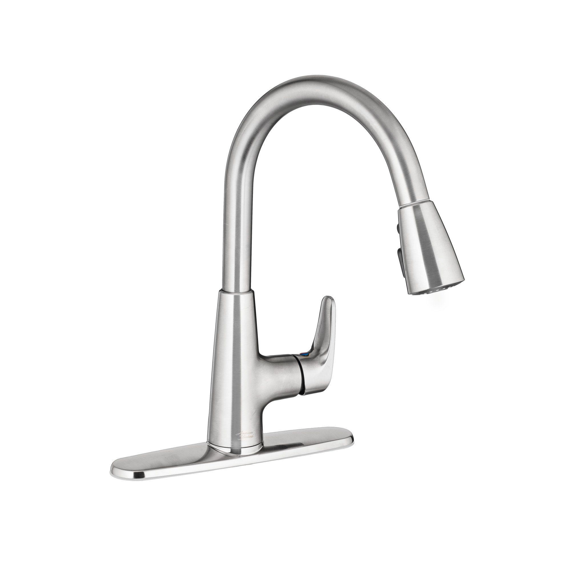American Standard 7074300.075 Colony Pro Single-Handle Kitchen Faucet with Pull-Down Spray, Stainless Steel