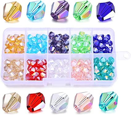 AB 6//8mm Wholesale Crystal Glass Loose Spacer Beads Craft DIY Jewelry Making