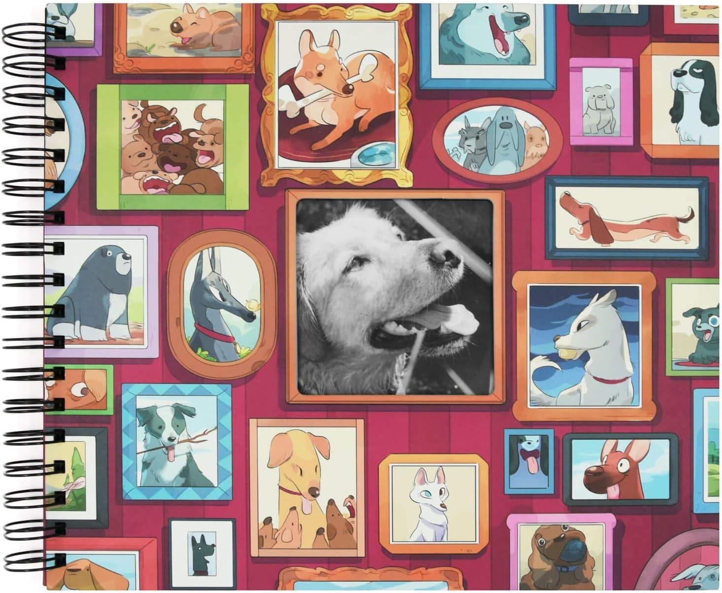 Recuerding - Álbum de Fotos Mascotas, para Perros, 50 Páginas (27×24 cm) | Pegar y Escribir, Personalizable, Autoadhesivo, Original, con Hojas Negras, Anillas y Tapa Dura, Producto Solidario
