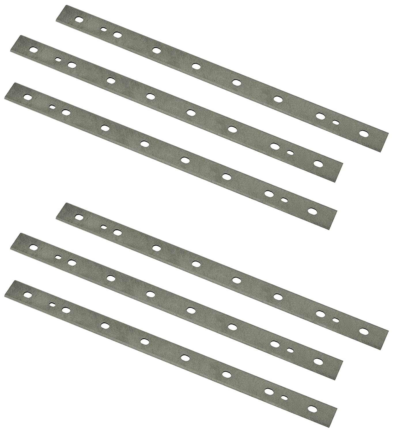 POWERTEC 13 Inch Heat Treated M2 Laminated HSS Inch Knives for DeWalt 735 Planer | Dual Sided Replacement Planer Blades DW7352– 2 Sets | 6 Blades