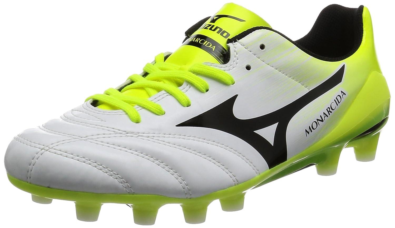 [ミズノ] サッカースパイク モナルシーダ2 UL Jr(旧モデル) B01N4DR2OF 22.5 cm ホワイト/ブラック/イエロー