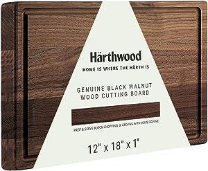 Härthwood Walnut Wood Cutting Board with Juice Groove(12