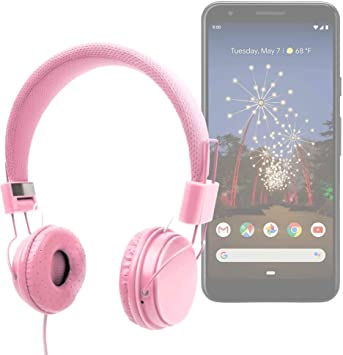 DURAGADGET Auriculares De Diadema Color Rosa para Smartphone ...
