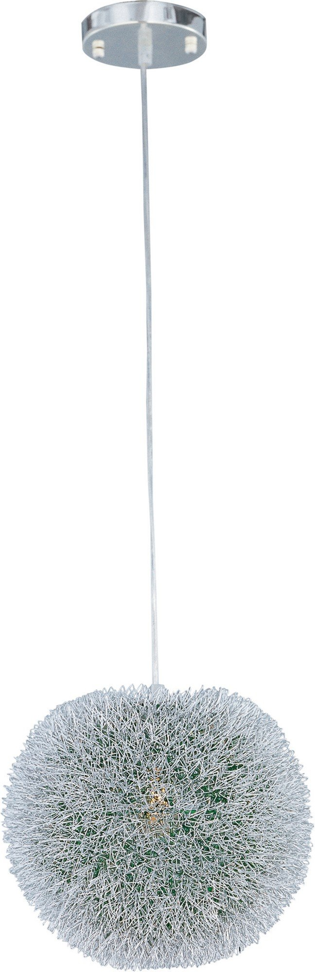 ET2 E24373-94AL Clipp 1-Light Single Pendant, Brushed Aluminum Finish, Glass, MB Incandescent Bulb, 1.2W Max., Dry Safety Rated, 2900K Color Temp., Low-Voltage Electronic Dimmer, Shade Material, 750 Rated Lumens