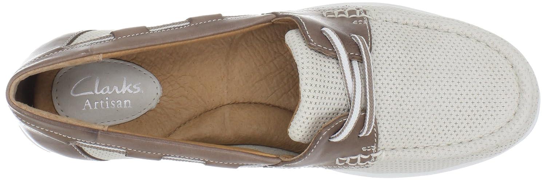 Clarks Women's Cliffrose Sail Boat Shoe,Off White,9.5 M US