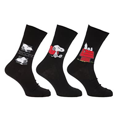 Herren Socken mit Snoopy Motiv, 3er Pack