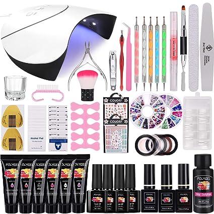 36W Lámpara Kit Uñas de Gel Completo, MYSWEETY Kit de Inicio de ...