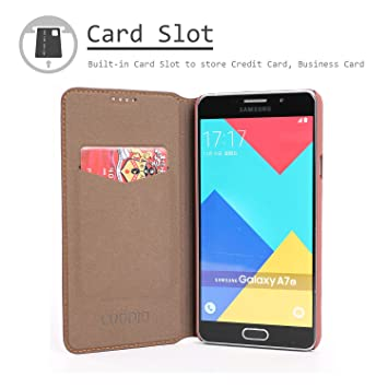 finest selection c3038 a93f0 COODIO Samsung Galaxy A7 2016 Case, Premium Leather Case, Samsung Galaxy A7  2016 Wallet Case, Vintage Folio Flip Book Wallet Case Cover, Card Slot For  ...
